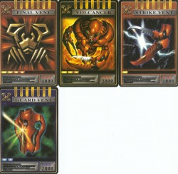 Kamen Rider Dragon Knight Sting Cards